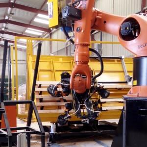 Carrousel zone de travail du robot de clouage