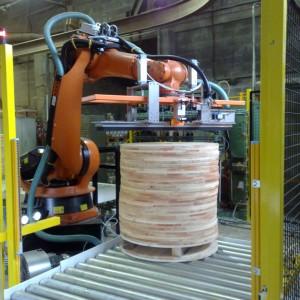 Dépilage des joues par le robot avec un caisson d'aspiration
