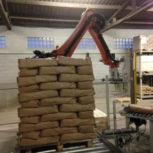 Empilage des sacs hauteur 1 mètre